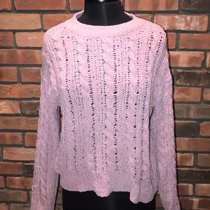 💗🍁Fuzzy Super Soft Fall Sweater Rose Knit